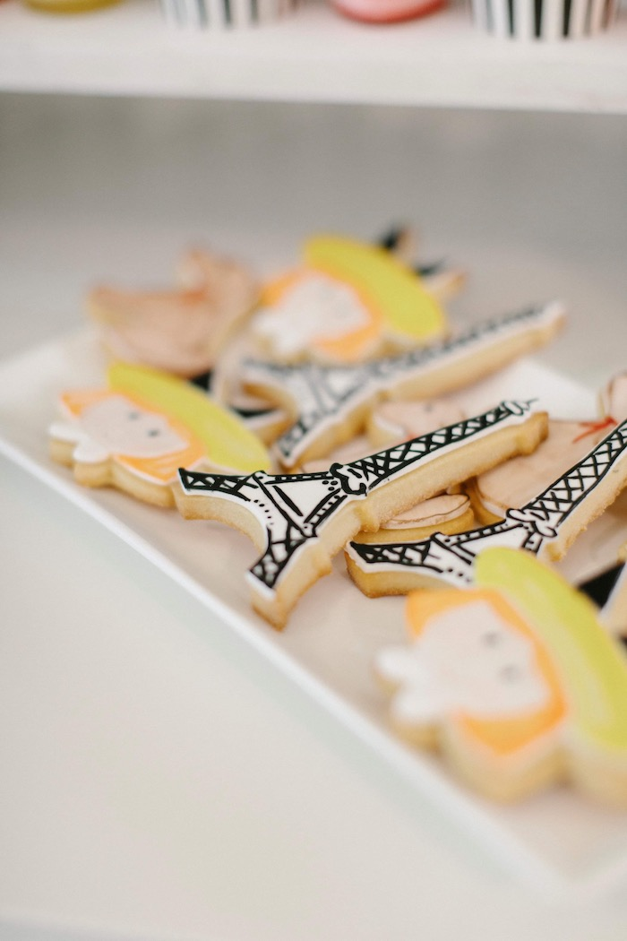 Eiffel Tower/Madeline Cookies from a Madeline in Paris Inspired Birthday Party on Kara's Party Ideas | KarasPartyIdeas.com (24)