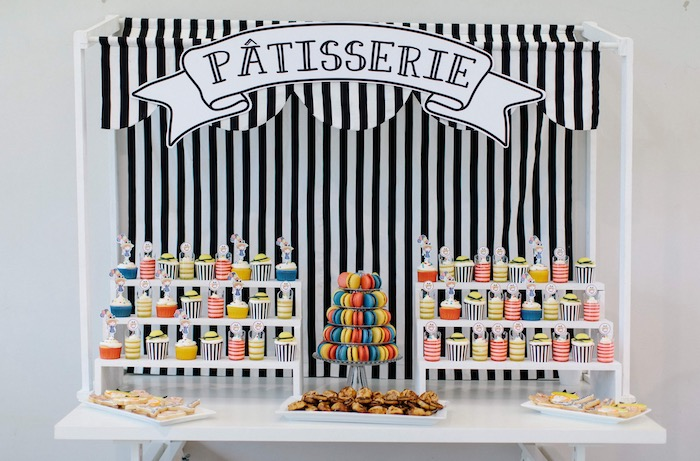 French Patisserie Dessert Table from a Madeline in Paris Inspired Birthday Party on Kara's Party Ideas | KarasPartyIdeas.com (19)
