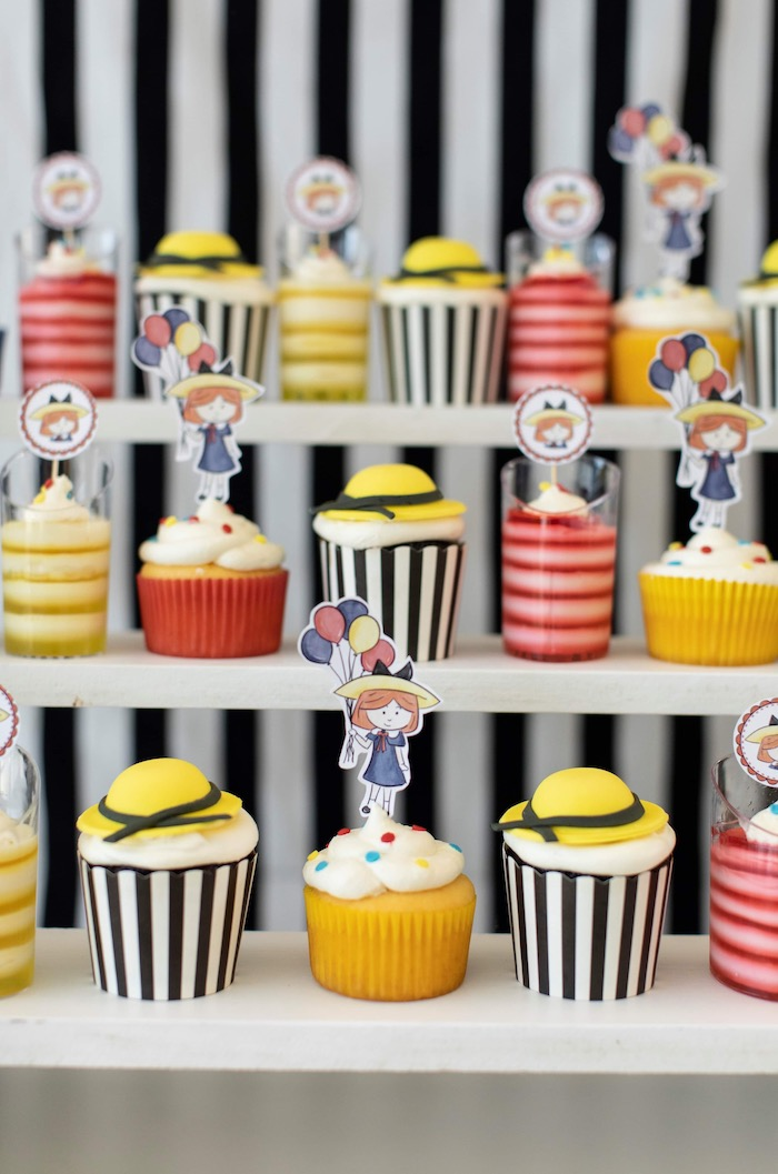 Madeline Themed Cupcakes from a Madeline in Paris Inspired Birthday Party on Kara's Party Ideas | KarasPartyIdeas.com (18)