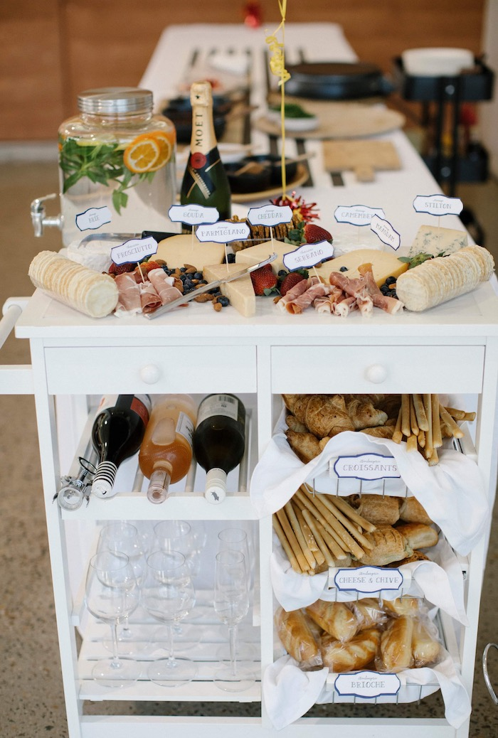 Charcuterie Stand from a Madeline in Paris Inspired Birthday Party on Kara's Party Ideas | KarasPartyIdeas.com (9)
