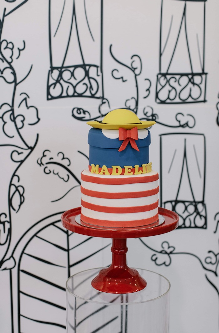 Madeline Themed Birthday Cake from a Madeline in Paris Inspired Birthday Party on Kara's Party Ideas | KarasPartyIdeas.com (32)