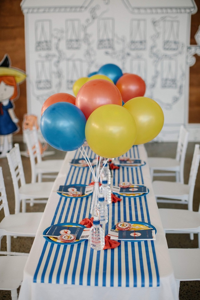 Madeline Themed Party Table from a Madeline in Paris Inspired Birthday Party on Kara's Party Ideas | KarasPartyIdeas.com (29)