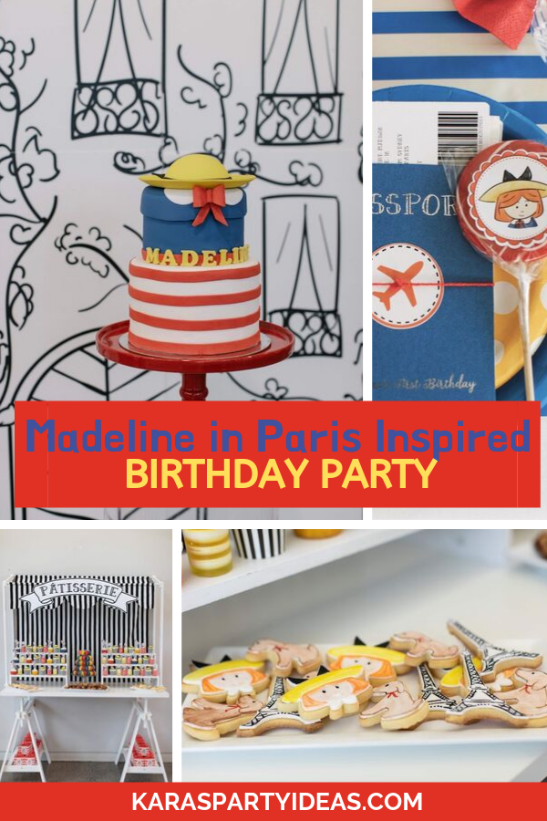 Madeline in Paris Inspired Birthday Party via Kara's Party Ideas - KarasPartyIdeas.com