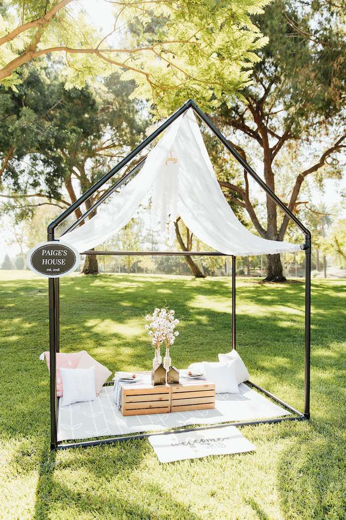 Modern-tented Wood Crate Party Table from a Magnolia Market Inspired Birthday Party on Kara's Party Ideas | KarasPartyIdeas.com (24)