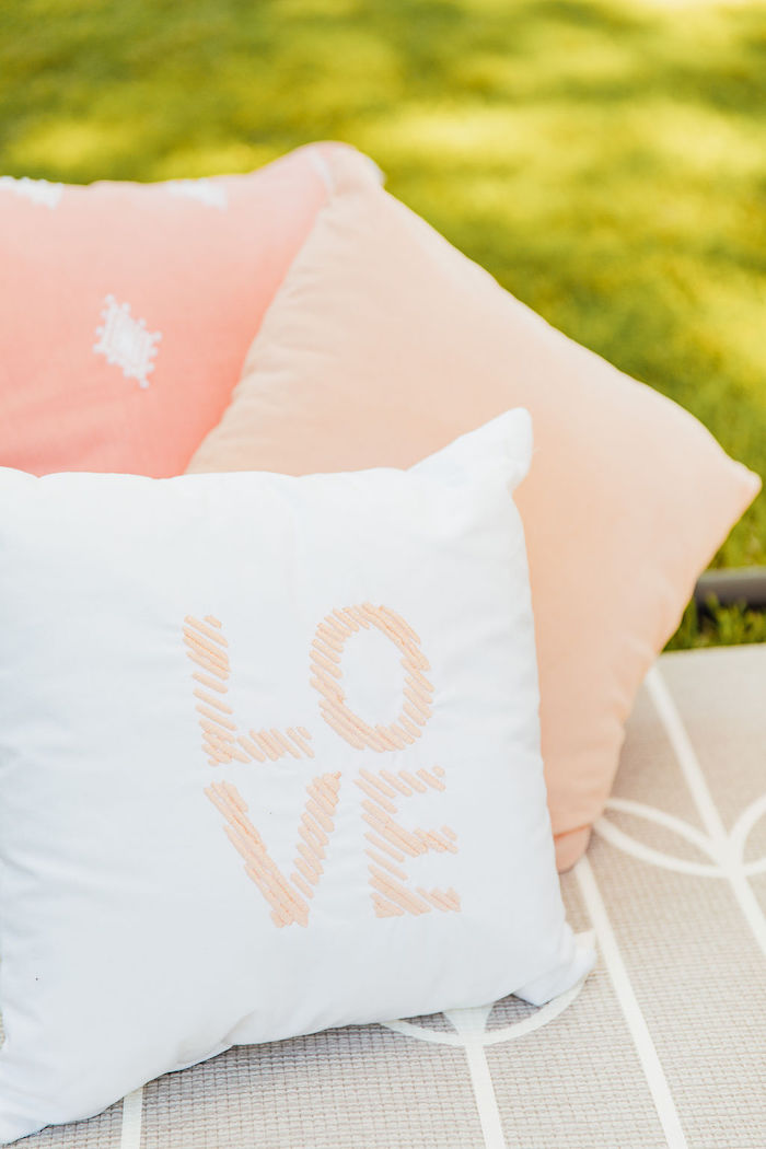 Pink + White Pillows from a Magnolia Market Inspired Birthday Party on Kara's Party Ideas | KarasPartyIdeas.com (23)