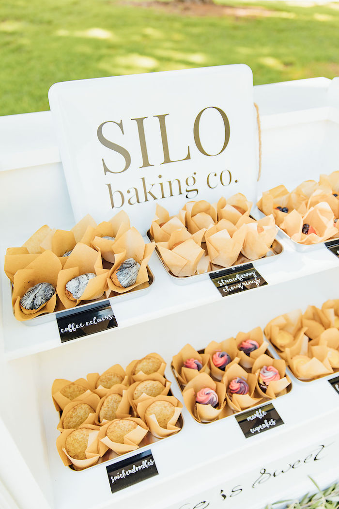 Silo baking co. signed dessert spread from a Magnolia Market Inspired Birthday Party on Kara's Party Ideas | KarasPartyIdeas.com (18)