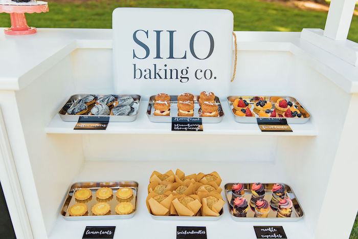 Silo baking co. signed Dessert Stand from a Magnolia Market Inspired Birthday Party on Kara's Party Ideas | KarasPartyIdeas.com (13)