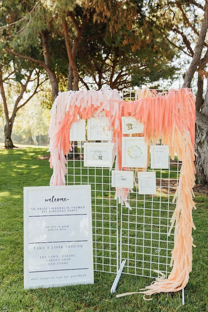 Modern Wire Highlight Wall from a Magnolia Market Inspired Birthday Party on Kara's Party Ideas | KarasPartyIdeas.com (30)
