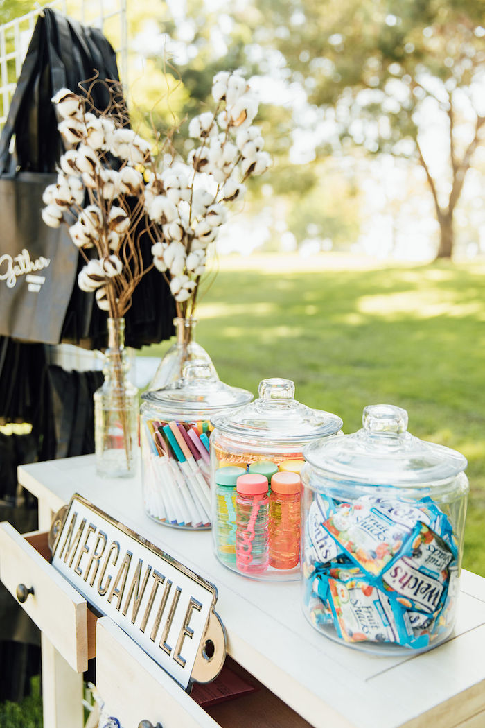 Mercantile Favor Table from a Magnolia Market Inspired Birthday Party on Kara's Party Ideas | KarasPartyIdeas.com (26)