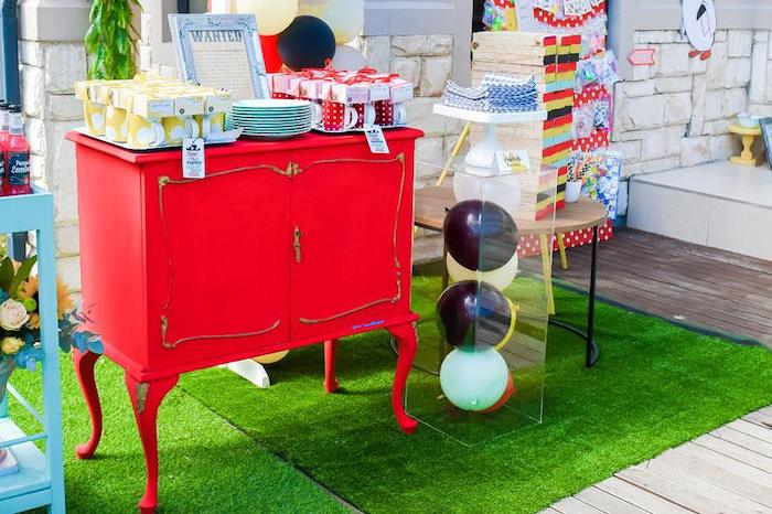 Party Table from a Mary Poppins Birthday Party on Kara's Party Ideas | KarasPartyIdeas.com (82)
