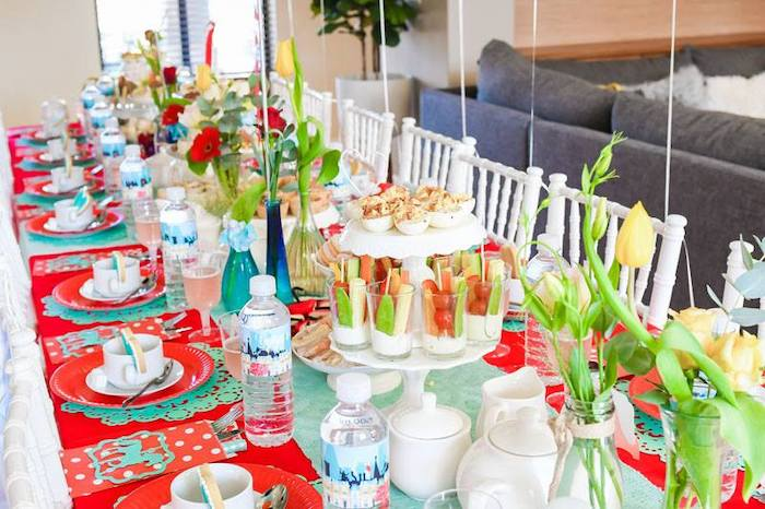Guest Table from a Mary Poppins Birthday Party on Kara's Party Ideas | KarasPartyIdeas.com (76)