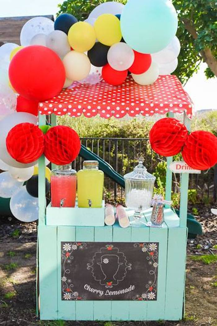 Mary Poppins Themed Drink Station from a Mary Poppins Birthday Party on Kara's Party Ideas | KarasPartyIdeas.com (64)