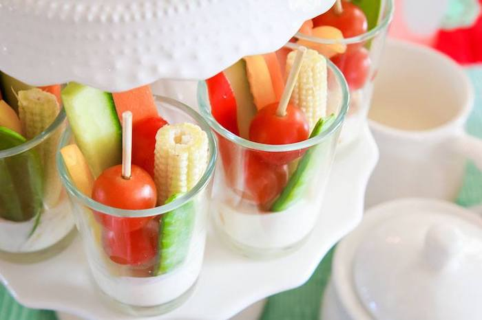 Veggie Cups from a Mary Poppins Birthday Party on Kara's Party Ideas | KarasPartyIdeas.com (62)