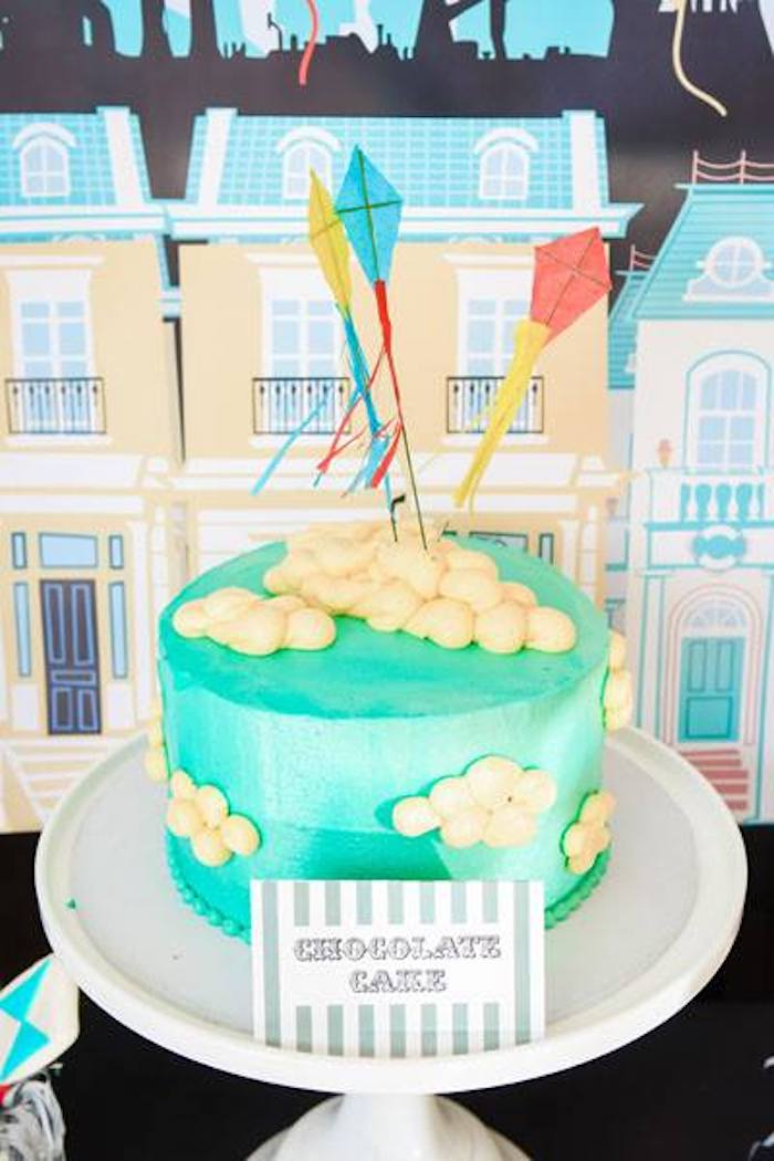 Kite Cake from a Mary Poppins Birthday Party on Kara's Party Ideas | KarasPartyIdeas.com (59)
