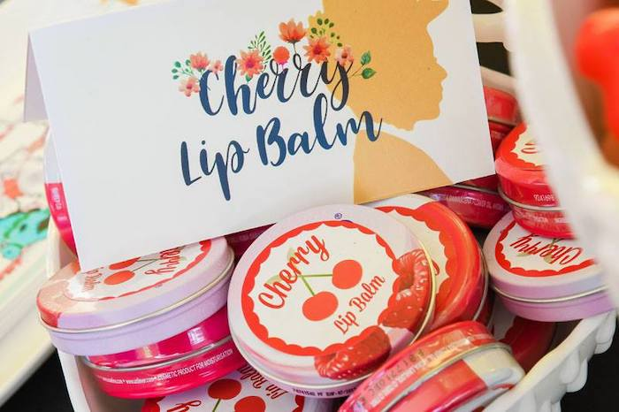 Cherry Lip Balm Favors from a Mary Poppins Birthday Party on Kara's Party Ideas | KarasPartyIdeas.com (58)