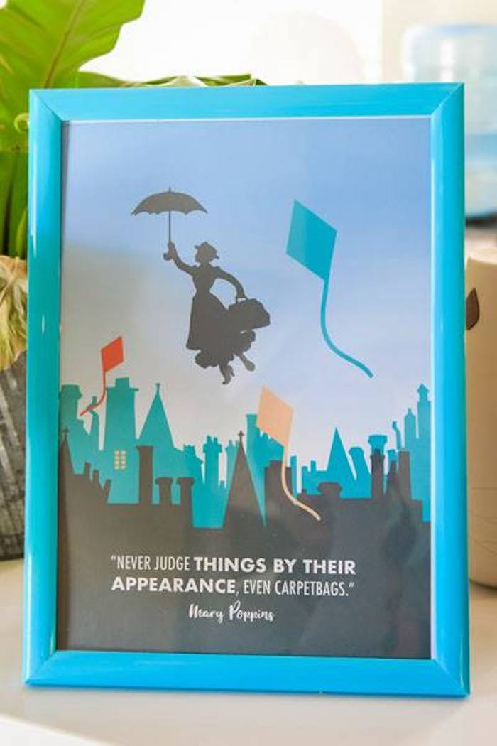 Mary Poppins Party Print + Signage from a Mary Poppins Birthday Party on Kara's Party Ideas | KarasPartyIdeas.com (52)