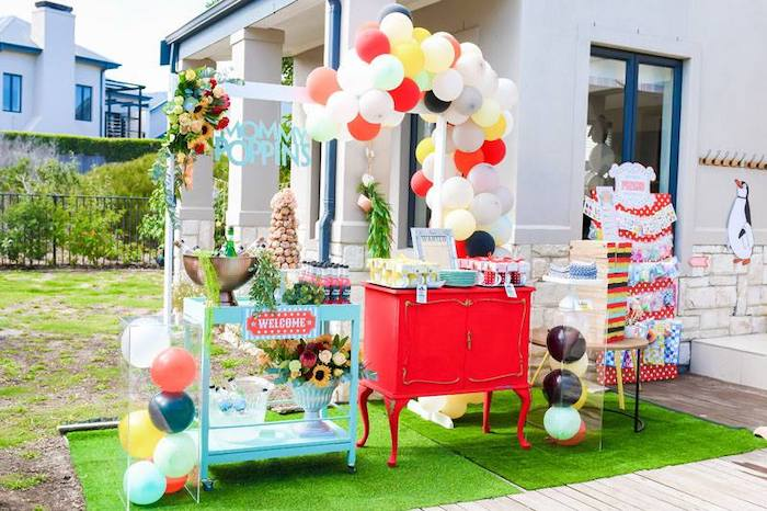 Carnival Party Tables from a Mary Poppins Birthday Party on Kara's Party Ideas | KarasPartyIdeas.com (49)