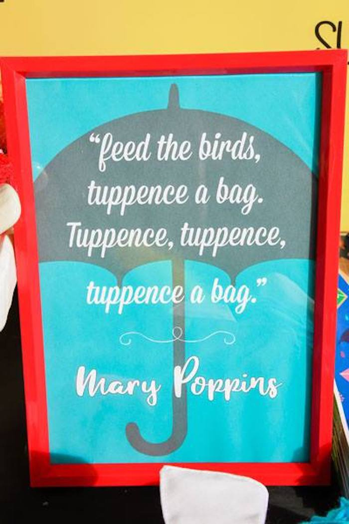 Feed the Birds Party Print + Signage from a Mary Poppins Birthday Party on Kara's Party Ideas | KarasPartyIdeas.com (48)