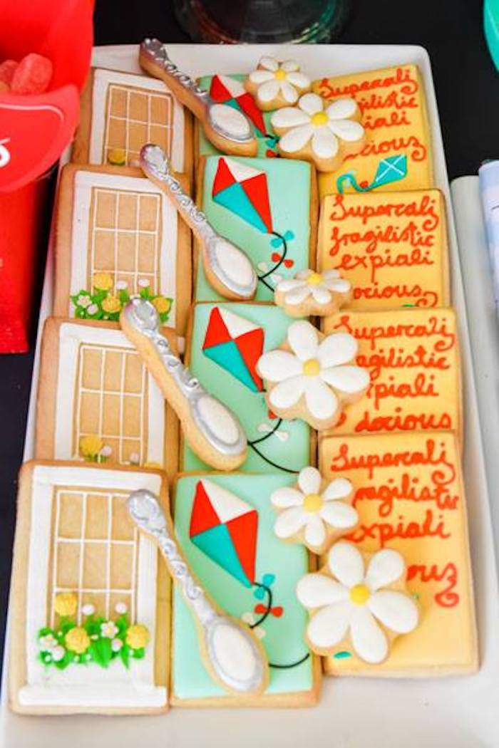 Mary Poppins-inspired Sugar Cookies from a Mary Poppins Birthday Party on Kara's Party Ideas | KarasPartyIdeas.com (46)
