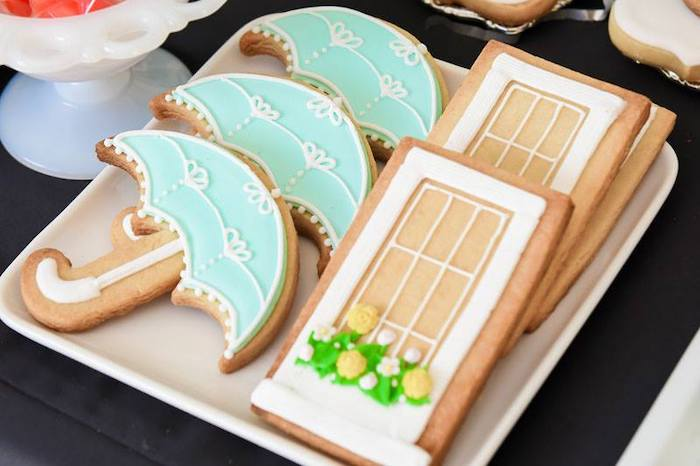 Mary Poppins-inspired Sugar Cookies from a Mary Poppins Birthday Party on Kara's Party Ideas | KarasPartyIdeas.com (45)