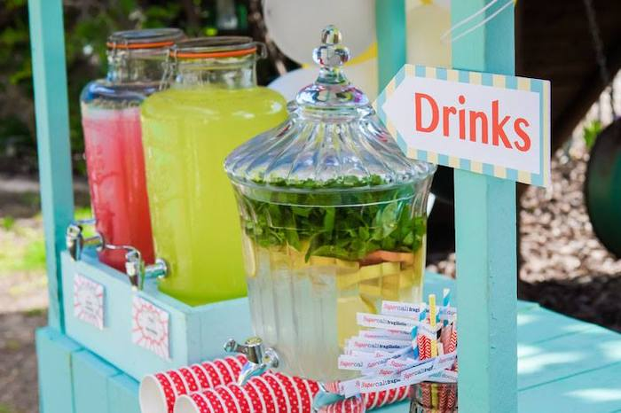 Drink + Beverage Station from a Mary Poppins Birthday Party on Kara's Party Ideas | KarasPartyIdeas.com (40)