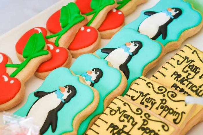 Mary Poppins-inspired Sugar Cookies from a Mary Poppins Birthday Party on Kara's Party Ideas | KarasPartyIdeas.com (39)