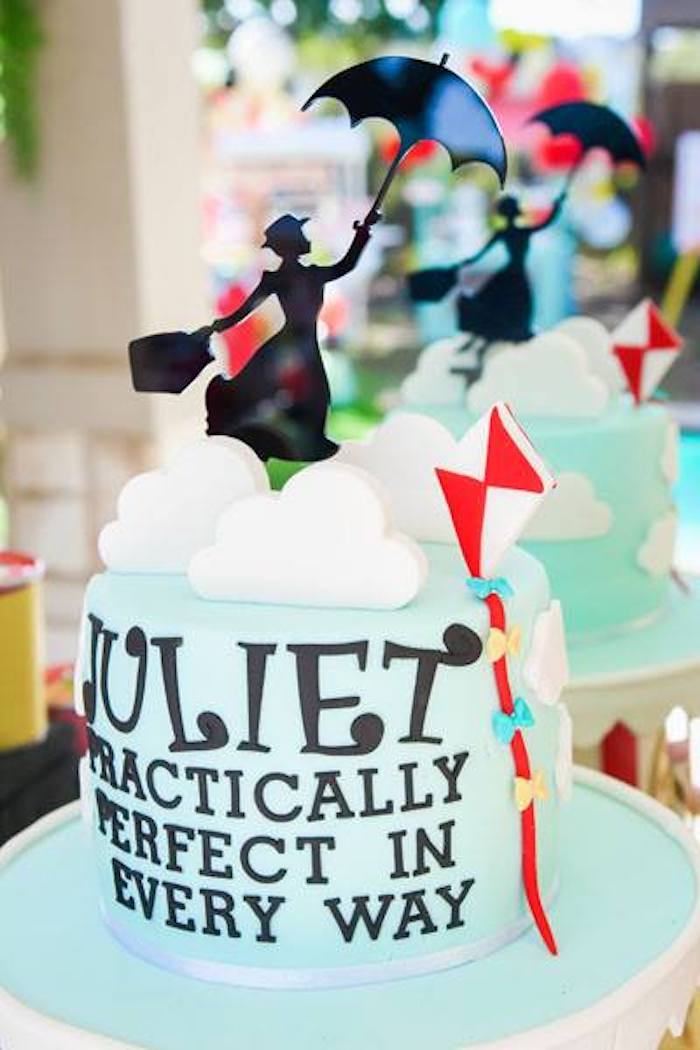 Mary Poppins Cloud Cake Topper from a Mary Poppins Birthday Party on Kara's Party Ideas | KarasPartyIdeas.com (38)