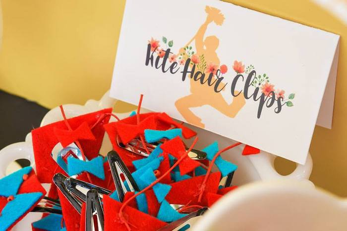 Kite Hair Clip Favors + Marty Poppins Party Signage from a Mary Poppins Birthday Party on Kara's Party Ideas | KarasPartyIdeas.com (23)