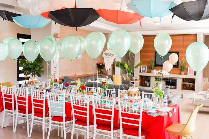 Mary Poppins Themed Tea Table from a Mary Poppins Birthday Party on Kara's Party Ideas | KarasPartyIdeas.com (94)