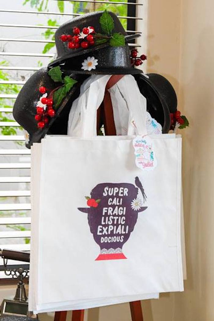 Mary Poppins Favor Bags from a Mary Poppins Birthday Party on Kara's Party Ideas | KarasPartyIdeas.com (93)