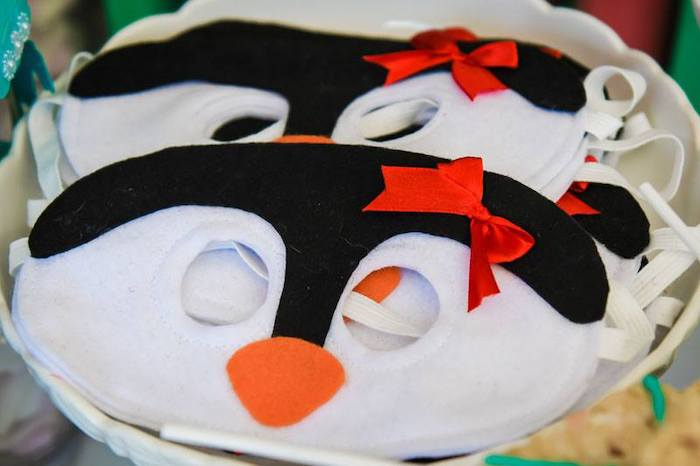 Penguin Masks from a Mary Poppins Birthday Party on Kara's Party Ideas | KarasPartyIdeas.com (11)