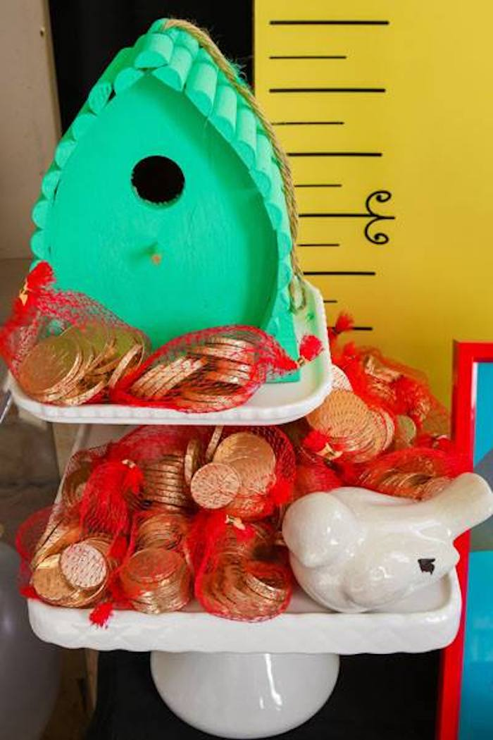 Chocolate Coin Bags from a Mary Poppins Birthday Party on Kara's Party Ideas | KarasPartyIdeas.com (4)