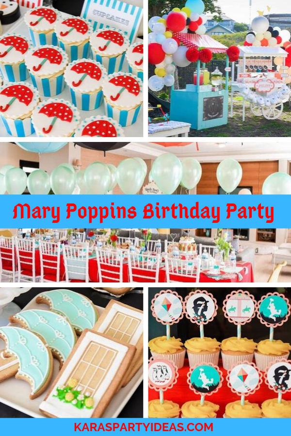 Mary Poppins Birthday Party via Kara's Party Ideas - KarasPartyIdeas.com