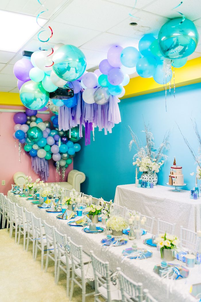 Modern Frozen Birthday Party on Kara's Party Ideas | KarasPartyIdeas.com (10)