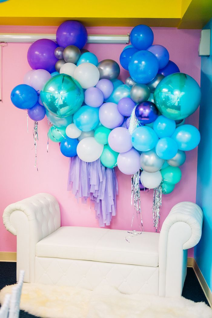 Balloon Wall + Photo Booth from a Modern Frozen Birthday Party on Kara's Party Ideas | KarasPartyIdeas.com (34)