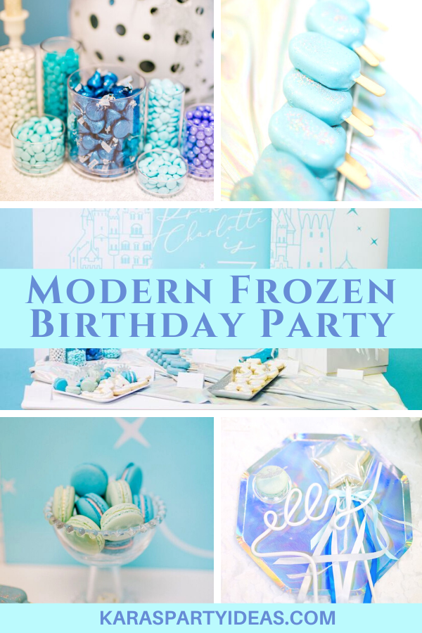 Modern Frozen Birthday Party via Kara's Party Ideas - KarasPartyIdeas.com