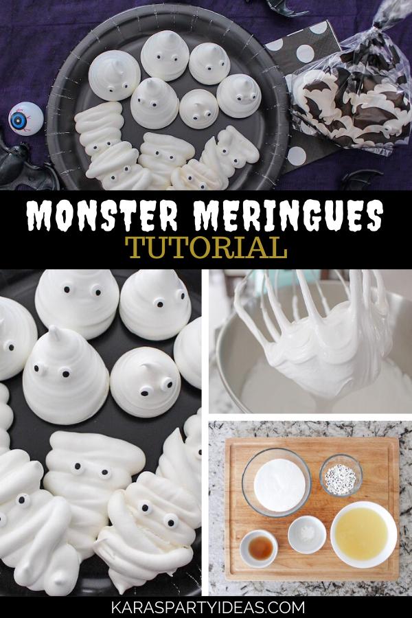 Monster Meringues Tutorial via Kara's Party Ideas - KarasPartyIdeas.com