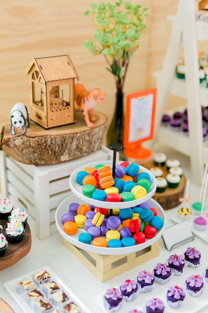 Noah's Ark Themed Dessert Table from a Noah's Ark Birthday Party on Kara's Party Ideas | KarasPartyIdeas.com (19)