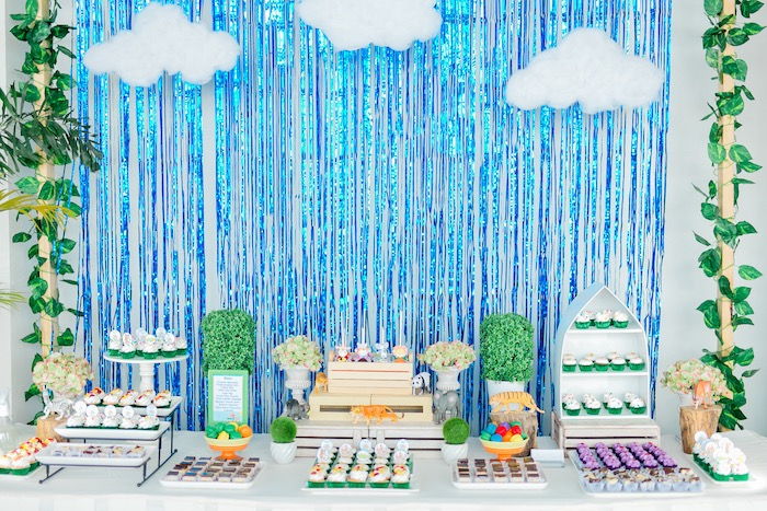 Noah's Ark Themed Dessert Table from a Noah's Ark Birthday Party on Kara's Party Ideas | KarasPartyIdeas.com (18)