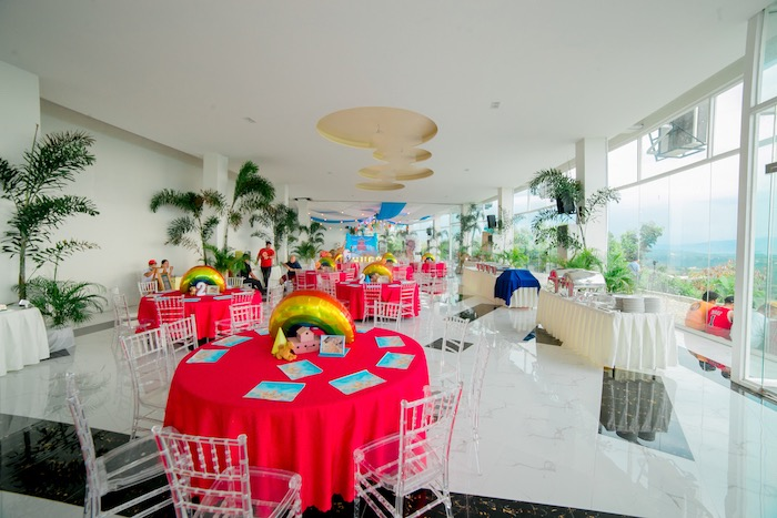 Guest Tables + Partyscape from a Noah's Ark Birthday Party on Kara's Party Ideas | KarasPartyIdeas.com (5)