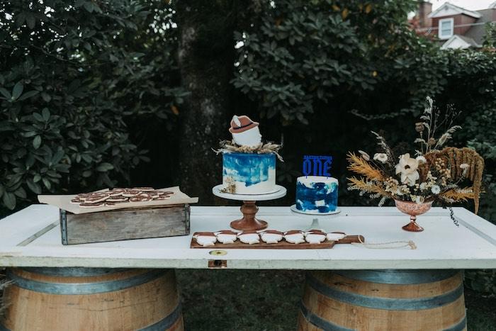 Fall Themed Dessert Table from an Oktoberfest Inspired 1st Birthday Party on Kara's Party Ideas | KarasPartyIdeas.com (35)
