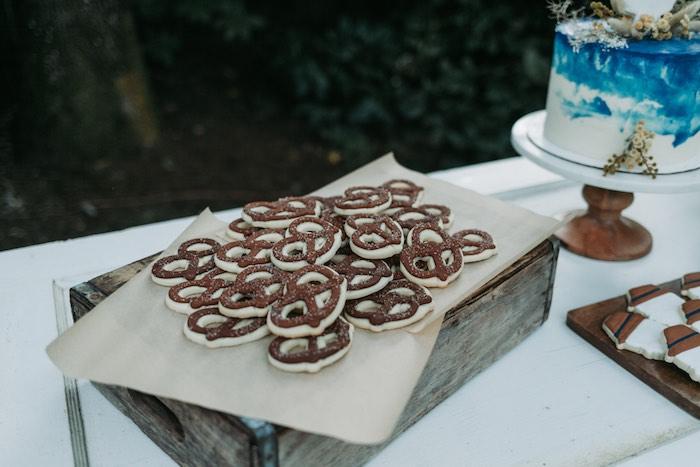 Pretzel-inspired Cookies from an Oktoberfest Inspired 1st Birthday Party on Kara's Party Ideas | KarasPartyIdeas.com (34)