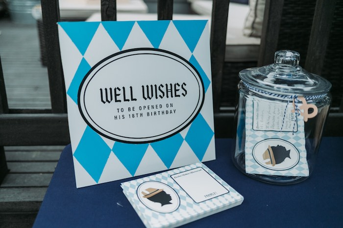 Well Wishes Signage from an Oktoberfest Inspired 1st Birthday Party on Kara's Party Ideas | KarasPartyIdeas.com (29)