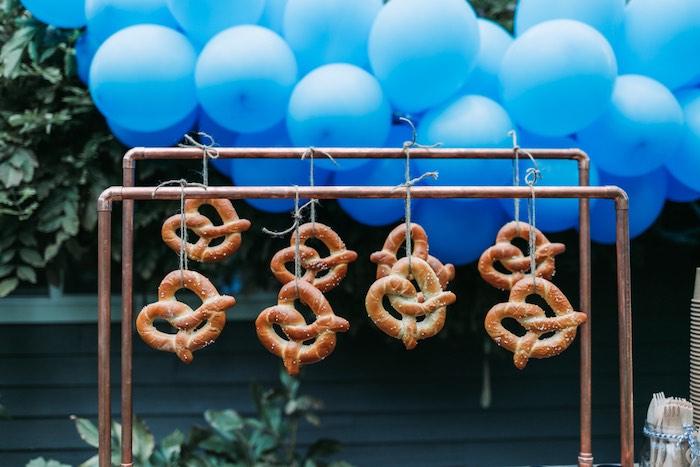 Pretzels on a Pipe/Rod Shelf from an Oktoberfest Inspired 1st Birthday Party on Kara's Party Ideas | KarasPartyIdeas.com (17)