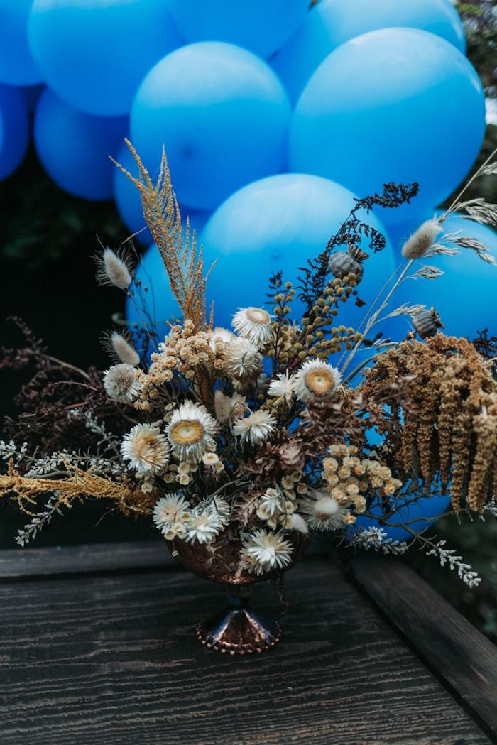 Fall Florals from an Oktoberfest Inspired 1st Birthday Party on Kara's Party Ideas | KarasPartyIdeas.com (15)