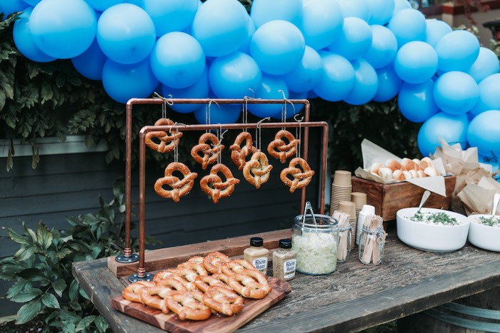 Pretzel Bar from an Oktoberfest Inspired 1st Birthday Party on Kara's Party Ideas | KarasPartyIdeas.com (11)