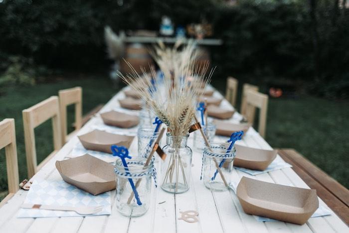 Guest Table from an Oktoberfest Inspired 1st Birthday Party on Kara's Party Ideas | KarasPartyIdeas.com (41)