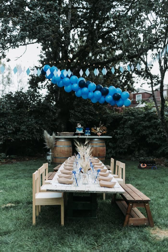 Guest Table from an Oktoberfest Inspired 1st Birthday Party on Kara's Party Ideas | KarasPartyIdeas.com (40)
