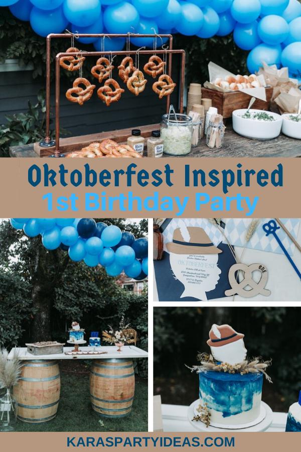 Oktoberfest Inspired 1st Birthday Party via Kara's Party Ideas - KarasPartyIdeas.com