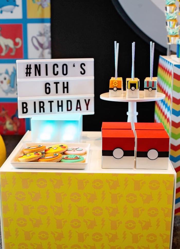Mini Dessert Table from a Pokemon Birthday Party on Kara's Party Ideas | KarasPartyIdeas.com (15)
